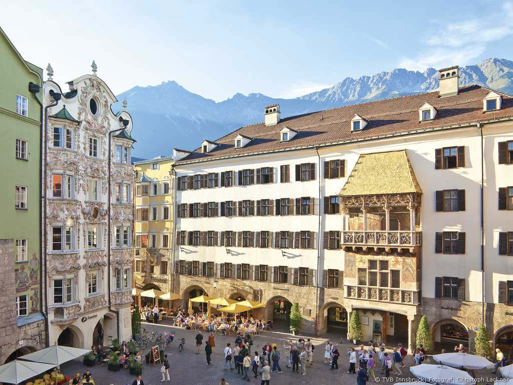 Golden roof and city tower Innsbruck