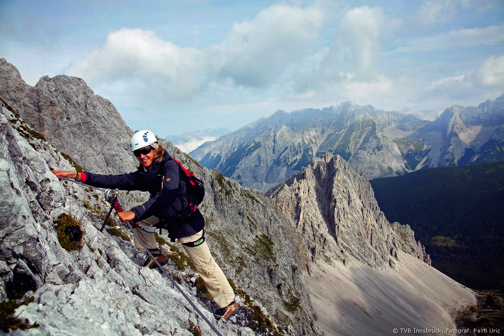 Climbing in the Tyrolean Mountains