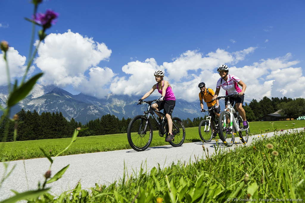 Biking in Lans and Innsbruck